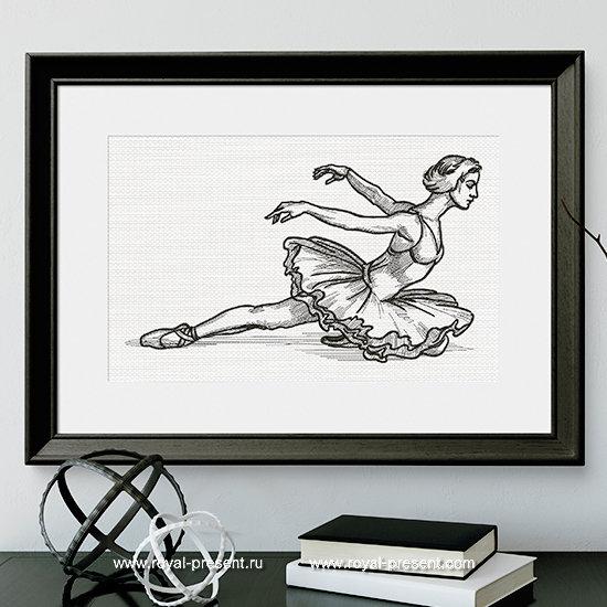 Дизайн машинной вышивки Балет Лебединое Озеро - 8 размеров RPE-1300