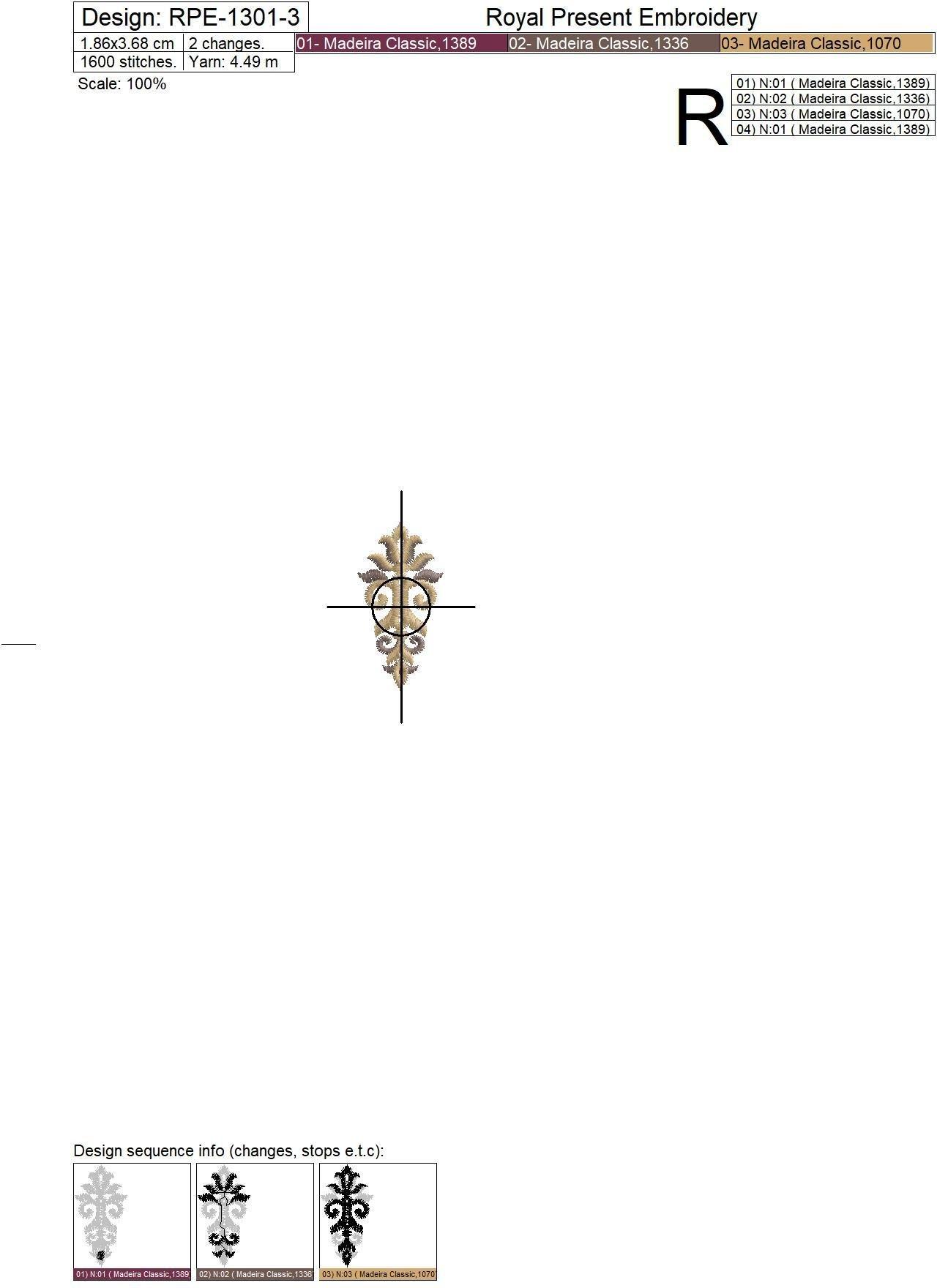 Три Дизайна машинной вышивки Прорези для пуговиц барокко