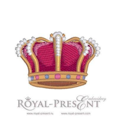 Дизайн машинной вышивки Корона Монарха