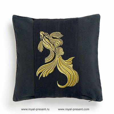 Дизайн машинной вышивки Золотая Рыбка - 4 размера