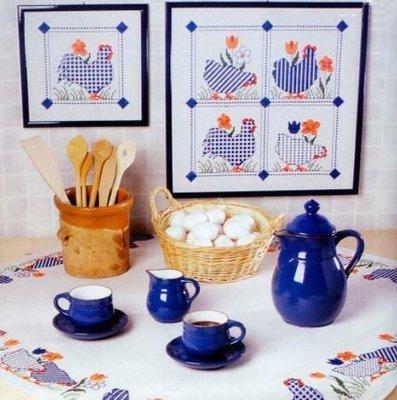 Дизайны вышивки крестом для украшения стола к Пасхе