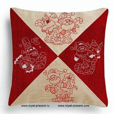 Коллекция дизайнов машинной вышивки Дед Мороз