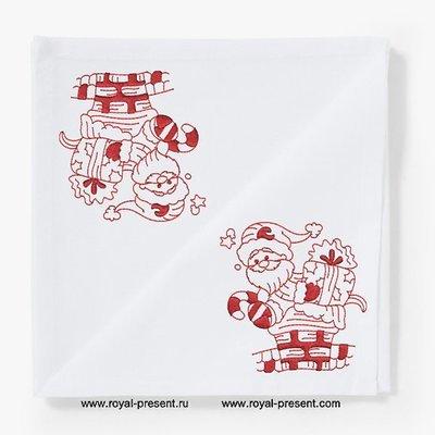 Дизайн машинной вышивки Санта