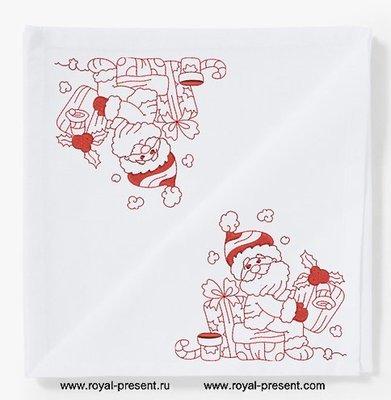 Дизайн для машинной вышивки Санта с подарками