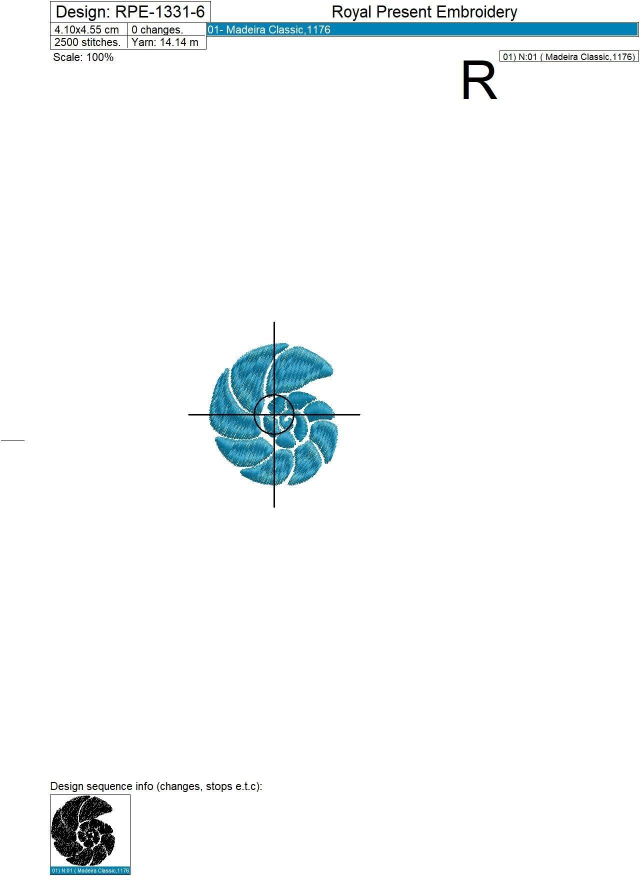 Мини Дизайны для машинной вышивки Морские ракушки