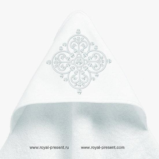 Узор для машинной вышивки арабеска - 6 размеров