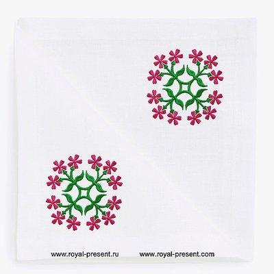 Цветы для квилта Дизайн машинной вышивки - 2 размера