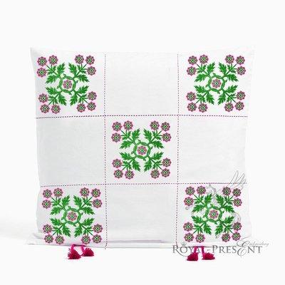 Дизайн машинной вышивки Цветочный орнамент в квадрате - 2 размера