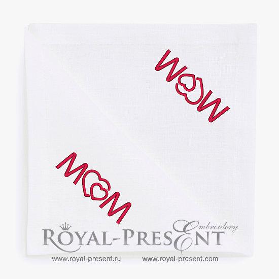 Бесплатный дизайн машинной вышивки День матери RPE-1367