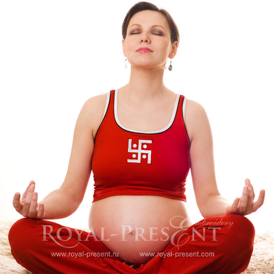 Бесплатный Дизайн машинной вышивки Свастика Буддизм RPE-150-04