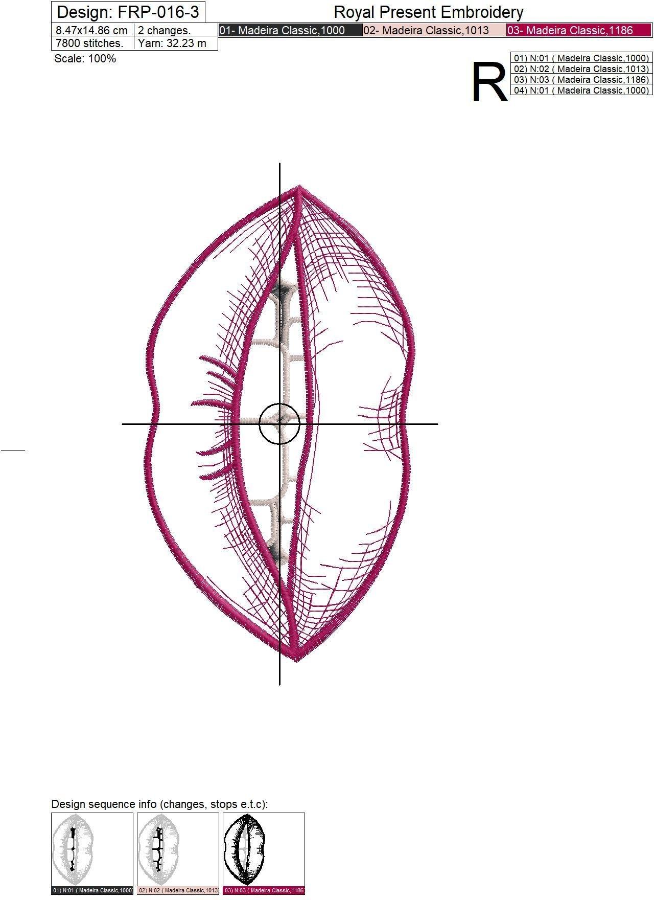 Контурные Губы Дизайн машинной вышивки - 6 размеров