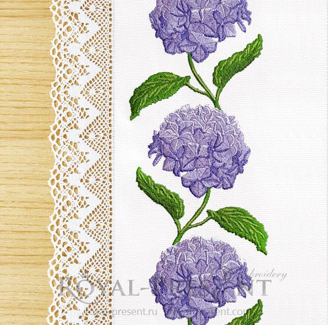 Бесконечный Дизайн машинной вышивки Гортензия RPE-1406