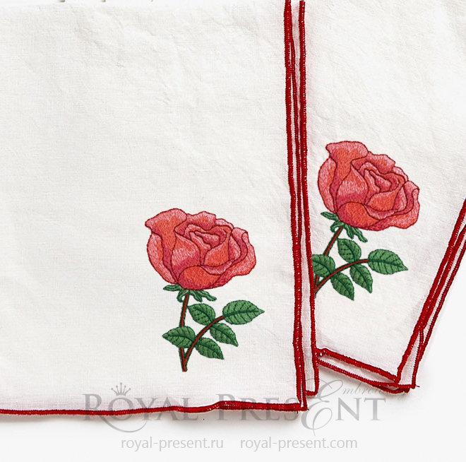 Дизайн машинной вышивки Бесплатно Роза RPE-565