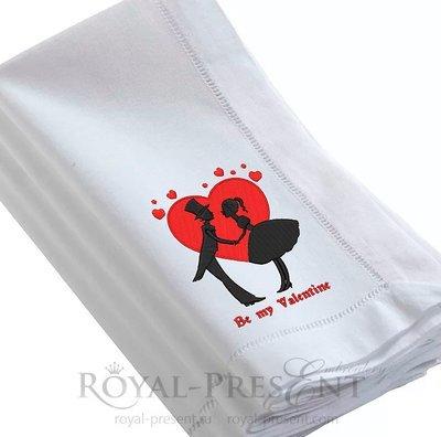 Дизайн для машинной вышивки Будь моим Валентином