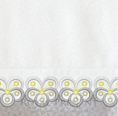 Дизайн машинной вышивки Бордюр для обработки края изделия