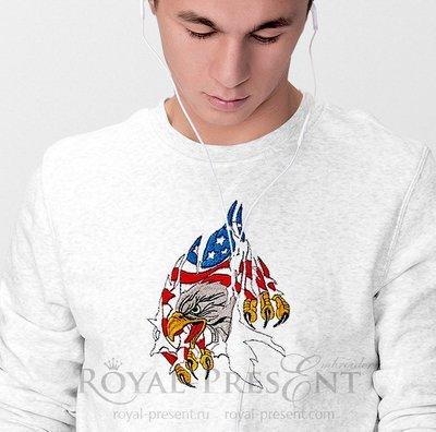 Дизайн машинной вышивки Американский Орел