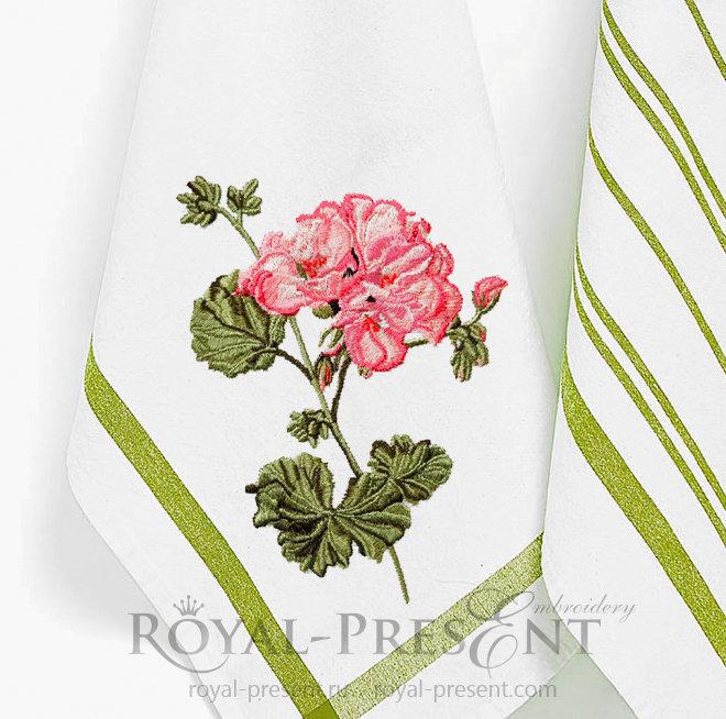 Дизайн для машинной вышивки Герань RPE-1417