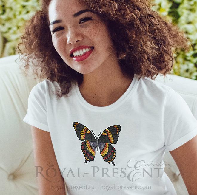 Дизайн машинной вышивки Бабочка FRP-003