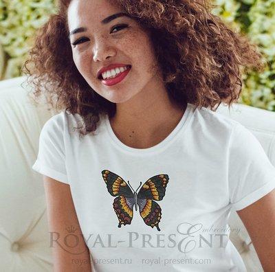 Дизайн машинной вышивки Бабочка