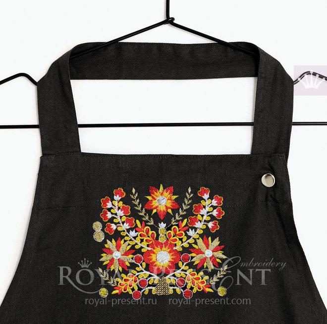 Бесплатный Дизайн машинной вышивки Индийский орнамент RPE-681
