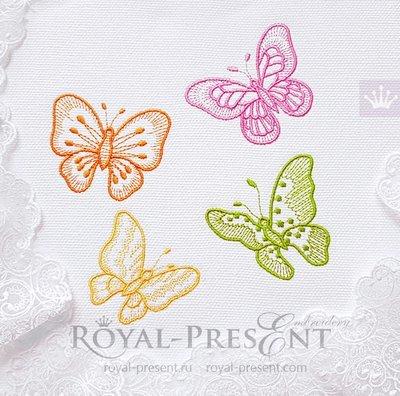 Бесплатные дизайны машинной вышивки Бабочки