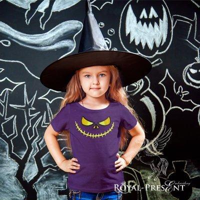 Дизайн машинной вышивки Happy Halloween - 4 размера