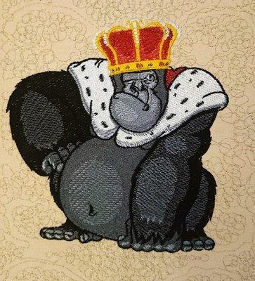 Дизайн для машинной вышивки Король обезьян - 3 размера