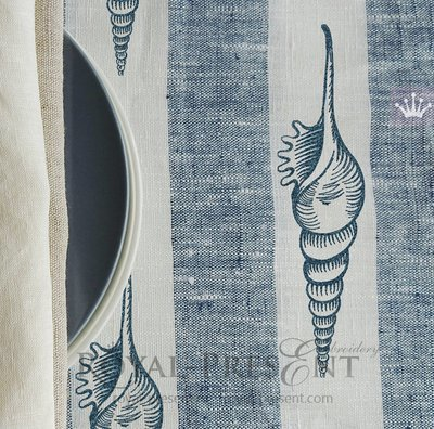 Дизайн машинной вышивки Ракушка в винтажном стиле