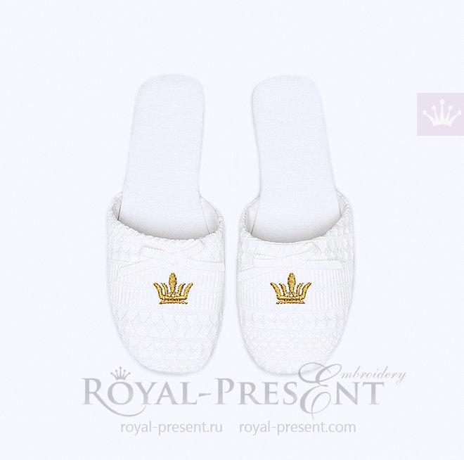 Дизайн машинной вышивки Мини корона бесплатно RPE-1445