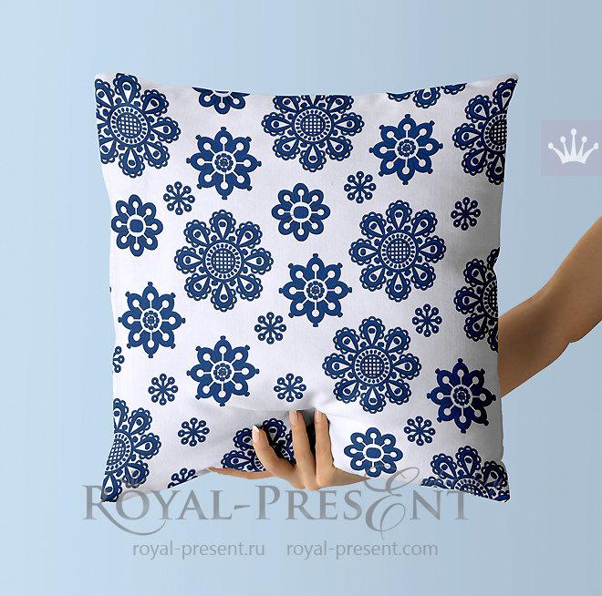 Дизайны машинной вышивки Скандинавские снежинки RPE-1435