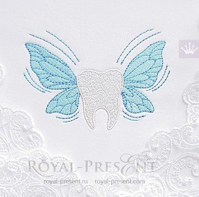 Дизайн машинной вышивки Зуб для Зубной Феи - 2 размера