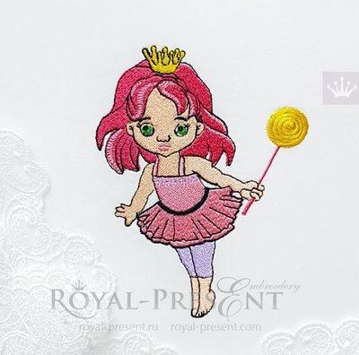 Дизайн машинной вышивки Маленькая Принцесса - 2 размера