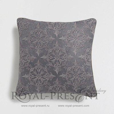 Дизайн машинной вышивки Квилт блок серый - 7 размеров