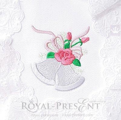 Дизайн машинной вышивки Свадебные колокольчики