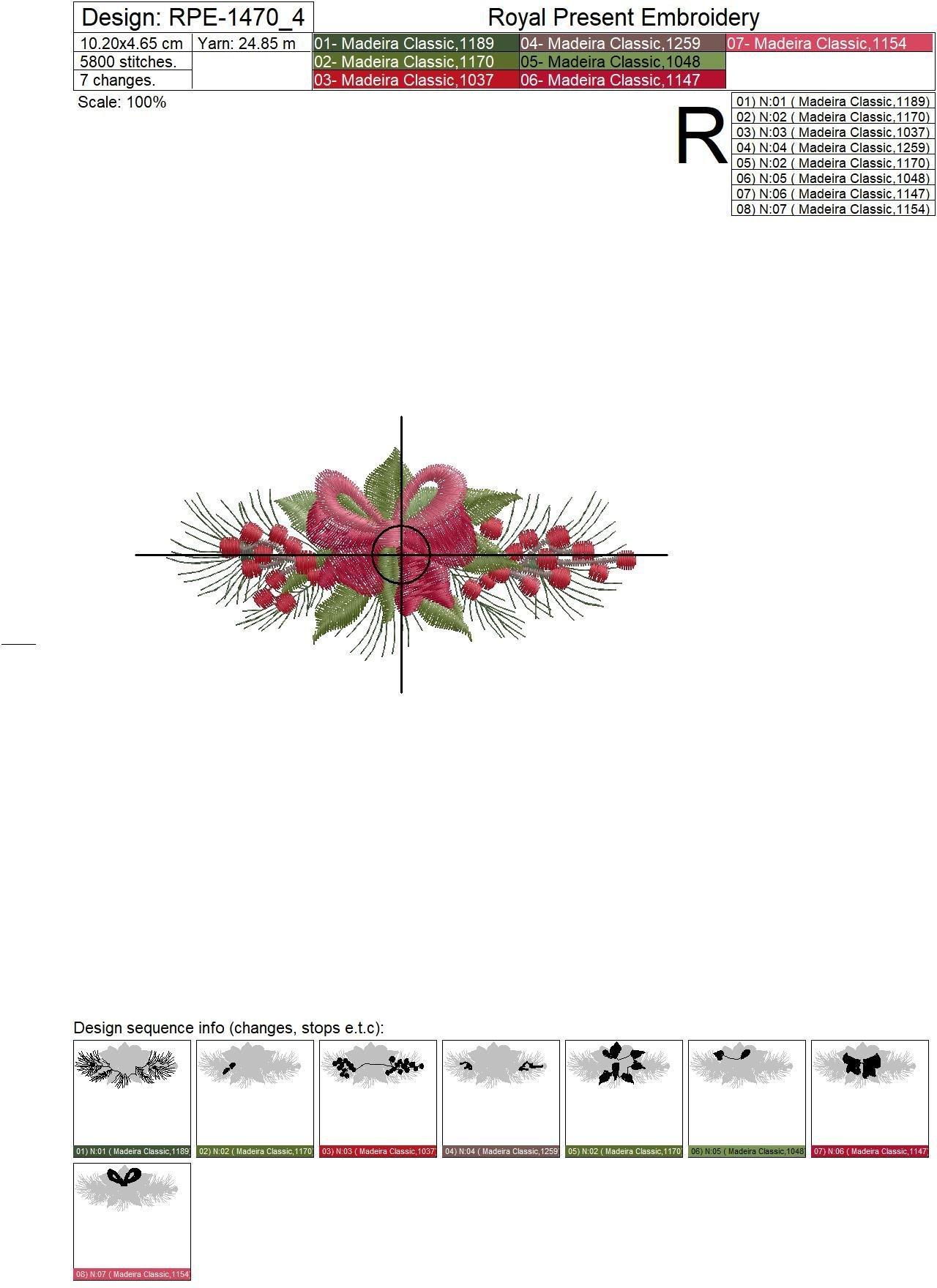 Набор Рождественских бордюров для машинной вышивки