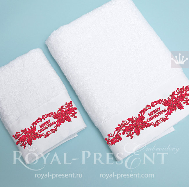 Дизайны машинной вышивки Новогодние бордюры RPE-1536