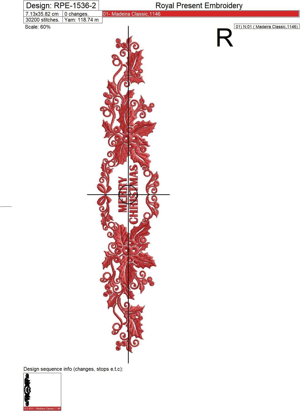 Дизайны машинной вышивки Новогодние бордюры