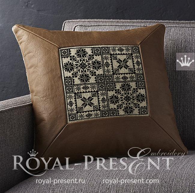 Дизайны машинной вышивки крестом Норвежские орнаменты - 4 размера RPE-1544