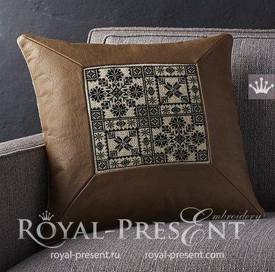 Дизайны машинной вышивки крестом Норвежские орнаменты - 4 размера