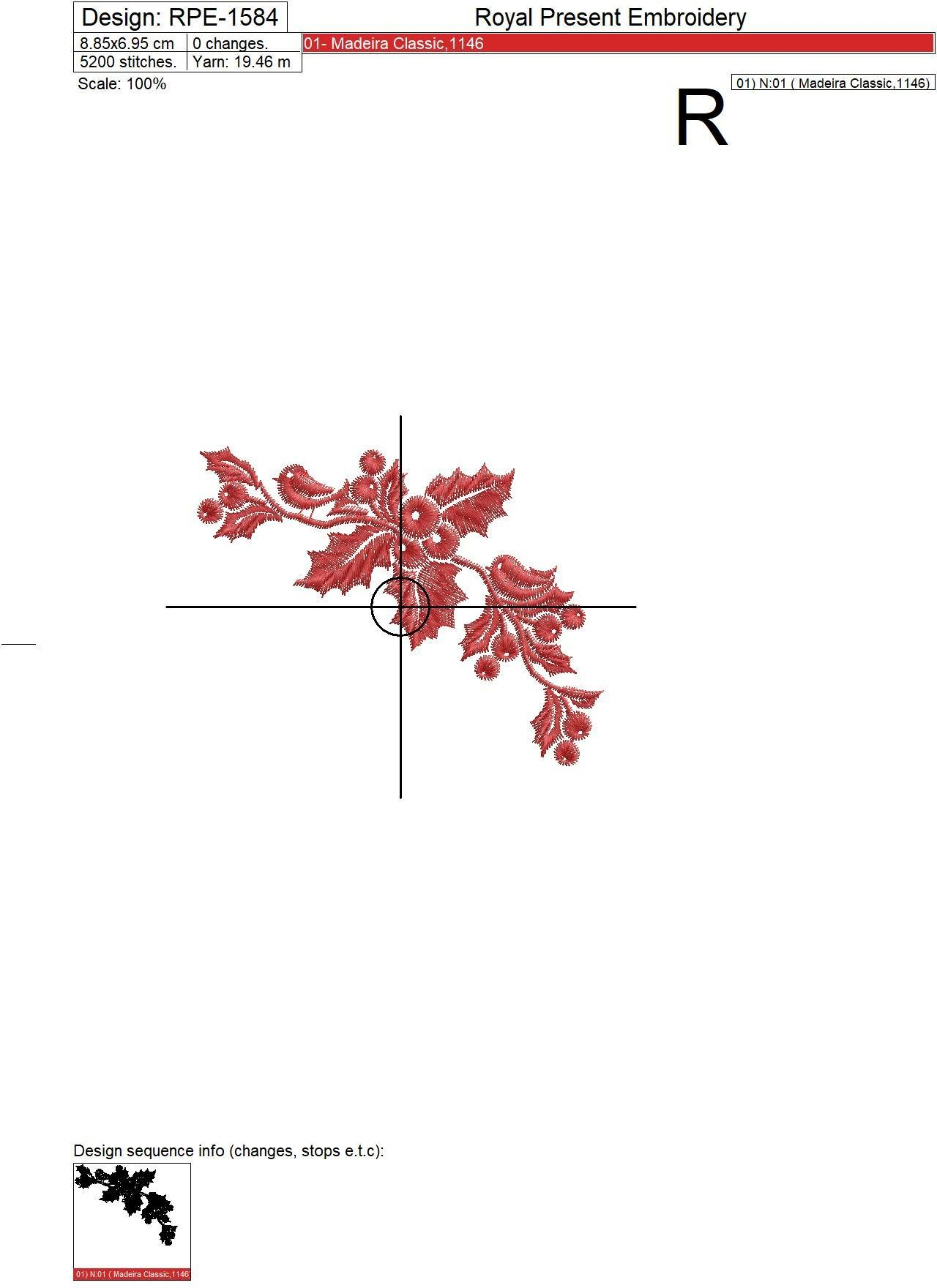 Новогодний Набор дизайнов вышивки Шарик и Уголок - 2 размера