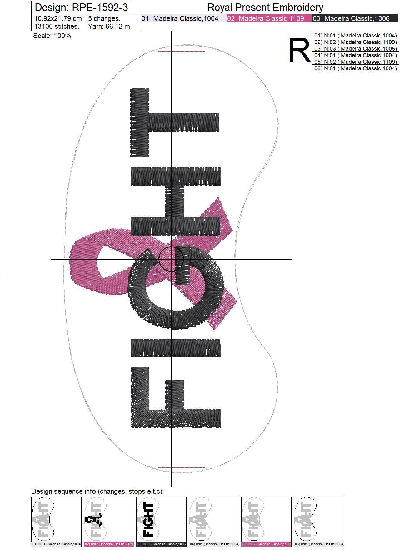 Бесплатный дизайн машинной вышивки Маска для сна Розовая Лента - 3 размера