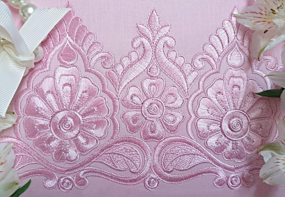 Дизайн для машинной вышивки Роскошный индийский бордюр