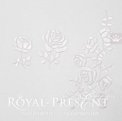 Набор дизайнов вышивки Мини розы