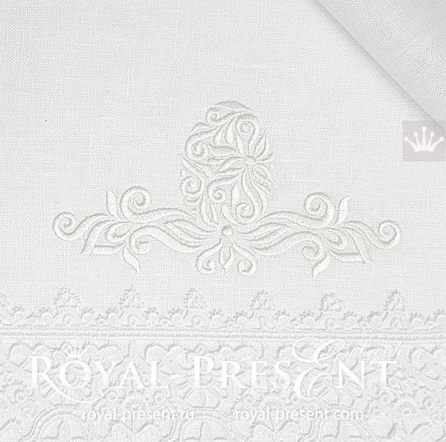Орнаментальный Дизайн машинной вышивки Пасхальное яйцо - 4 размера