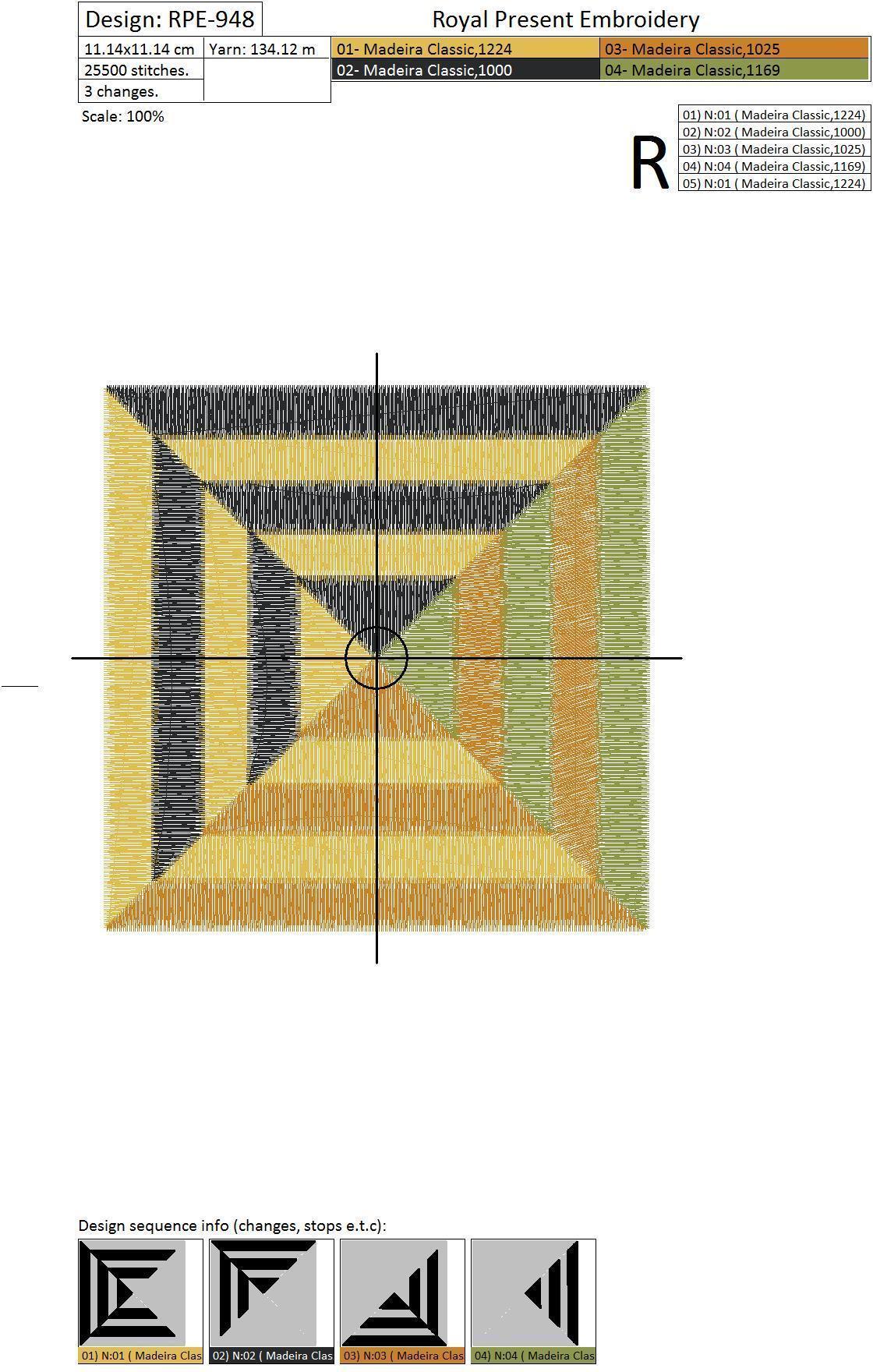 Дизайн машинной вышивки для квилта Графика