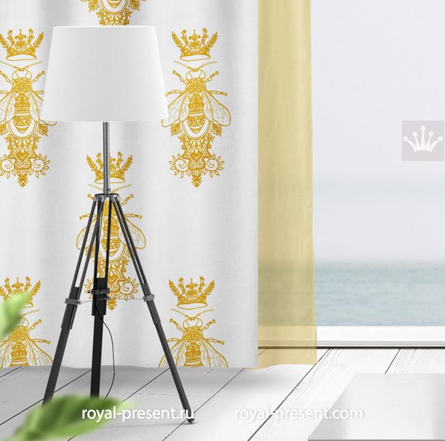Орнаментальный дизайн вышивки Пчела с Короной - 5 размеров RPE-1638