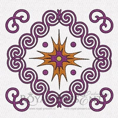 Дизайн машинной вышивки Африканский орнамент (2 в 1)