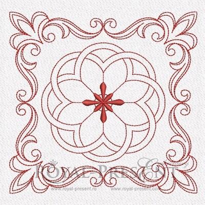 Дизайн машинной вышивки для квилта #1