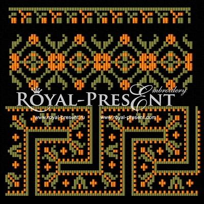 Дизайн для машинной вышивки Набор элементов для орнаментов