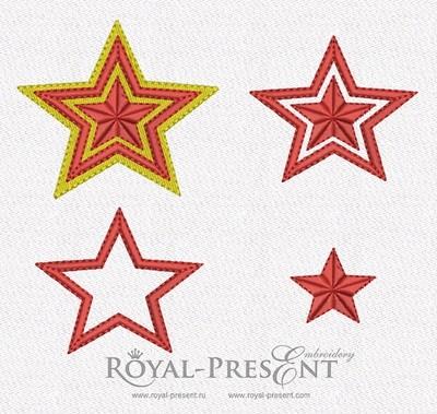 Набор дизайнов машинной вышивки - Звезды